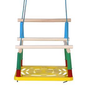 Качели детские подвесные, пластмассовые, сиденье 33×22см Ош