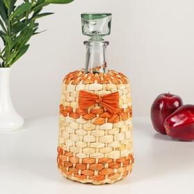 Бутылка стеклянная «Традиция», 1,5 л, оплетённая листьями кукурузы