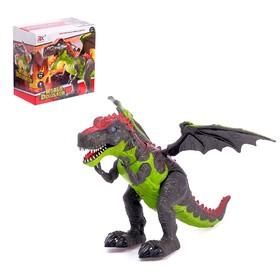 Робот-животное «Динозавр», с крыльями, световые эффекты, работат от батареек