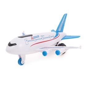 Самолет инерционный «Авиалайнер», цвет белый