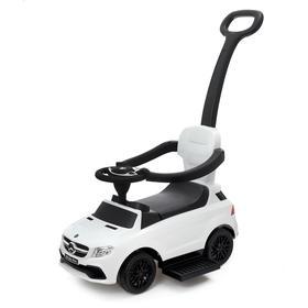 Толокар Mercedes-Benz AMG GLE, родительская ручка, звук, цвет белый