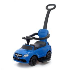 Толокар Mercedes-Benz AMG GLE, родительская ручка, звук, цвет синий