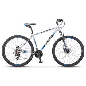 "Велосипед 29"" Stels Navigator-900 MD, F010, цвет серебристый/синий размер 17,5"""