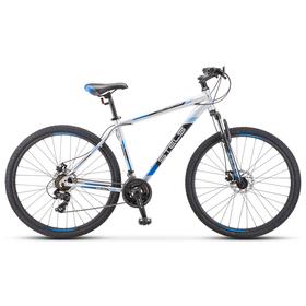 "Велосипед 29"" Stels Navigator-900 MD, F010, цвет серебристый/синий размер 21"""