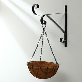 Кашпо подвесное, d = 25 см, с кокосовым вкладышем, «Сфера»