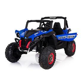 Электромобиль «БАГГИ», полный привод 4WD, кожаное сидение, цвет синий, уценка (трещины на правом крыле и корпусе)