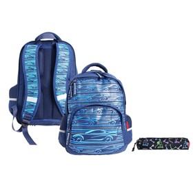 Рюкзак школьный Bruno Visconti, 40 х 30 х 19 см, эргономичная спинка, «Спорткар»