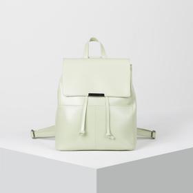 Backpack mod L-5816-62, 26*12*26, otd zip, EXT, 3 n/pocket, green