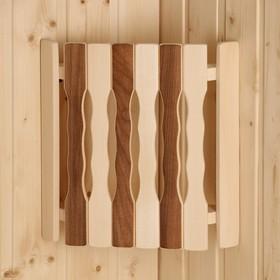 Абажур деревянный, угловой 'Плоский Термо-5' Ош