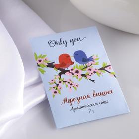 """Саше ароматическое """"Only you"""", морозная вишня, вес 7 г, размер 7×10.5 см"""