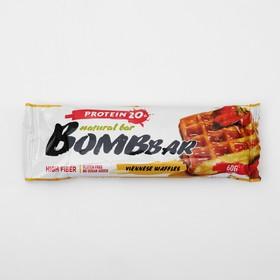 Протеиновый батончик BOMBBAR, венские вафли, 60 г