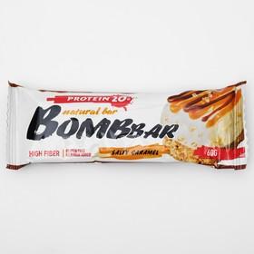 Протеиновый батончик BOMBBAR, солёная карамель, 60 г