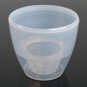 Кашпо со вставкой «Деко Твин», 1,5 л, цвет прозрачный