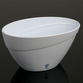 Кашпо с прикорневым поливом Calipso, 2 л, цвет белый