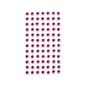 Eyes adhesive, kit 84 PCs, size 1 PCs 0.8 cm , color pink
