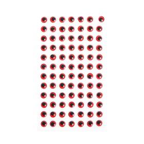 Eyes adhesive, kit 84 PCs, size 1 PCs 0.8 cm , color red