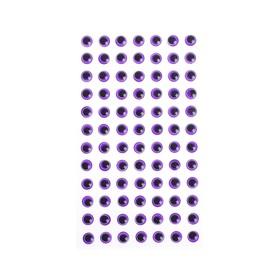 Eyes adhesive, kit 84 PCs, size 1 PCs 0.8 cm , color purple
