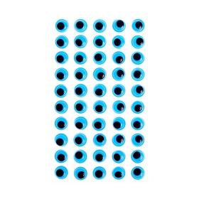 Eyes adhesive, set of 60 piece, size 1 PCs 1.2 cm , color blue