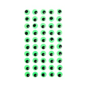 Eyes adhesive, set of 60 piece, size 1 PCs 1.2 cm , color green