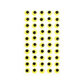Eyes adhesive, set of 60 piece, size 1 PCs 1.2 cm , color yellow