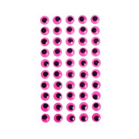 Eyes adhesive, set of 60 piece, size 1 PCs 1.2 cm , color fuchsia
