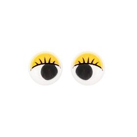 Eyes kit 100 PCs size 1 piece 1.2 cm, color yellow