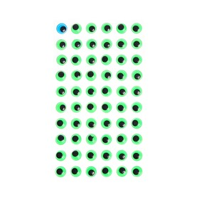 Eyes adhesive, set of 60 piece, size 1 PCs 1cm , green