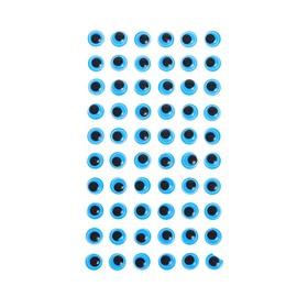 Eyes adhesive, set of 60 piece, size 1 PCs 1cm , color blue