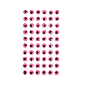 Eyes adhesive, set of 60 piece, size 1 PCs 1cm , color pink