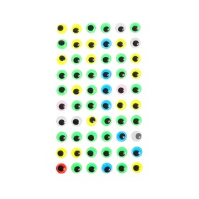 Eyes adhesive, set of 60 PCs, size 1cm 1 PC , MIX color
