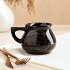 """Чашка """"Инжир"""", чёрная, золотая деколь чай, 0.3 л, микс - фото 665112"""