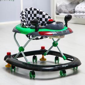 Ходунки Prix, зелёный, игровая панель, 7 колёс