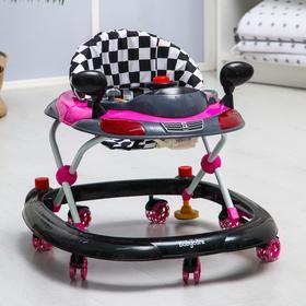 Ходунки Prix, фиолетовый, игровая панель, 7 колёс