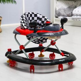 Ходунки Prix, красный, игровая панель, 7 колёс