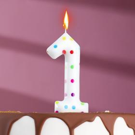"Свеча в торт на день рождения, цифра ""1"" ГИГАНТ"