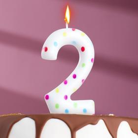 "Свеча в торт на день рождения, цифра ""2"" ГИГАНТ"