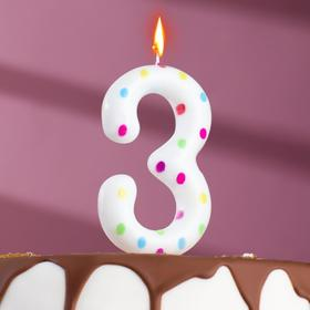 "Свеча в торт на день рождения, цифра ""3"" ГИГАНТ"