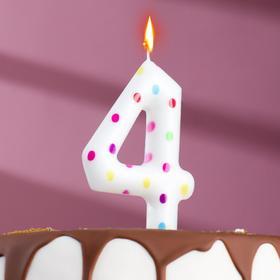 "Свеча в торт на день рождения, цифра ""4"" ГИГАНТ"