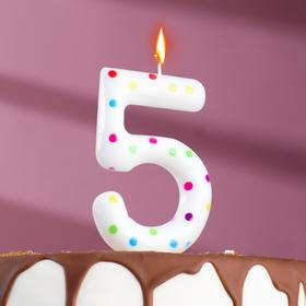 "Свеча в торт на день рождения, цифра ""5"" ГИГАНТ"