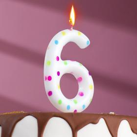 "Свеча в торт на день рождения, цифра ""6"" ГИГАНТ"