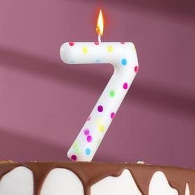 "Свеча в торт на день рождения, цифра ""7"" ГИГАНТ"