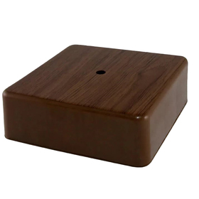 Distribution box TUNDRA 75х75х25 mm, IP42, for open. installation, color oak