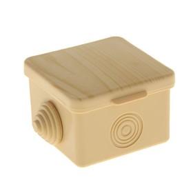 Distribution box TUNDRA 65х65х45 mm, IP65, for open. installation, color pine