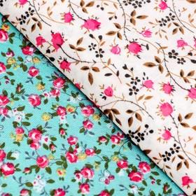 Набор ткани пэчворк «Цветы», 50 х 50 см