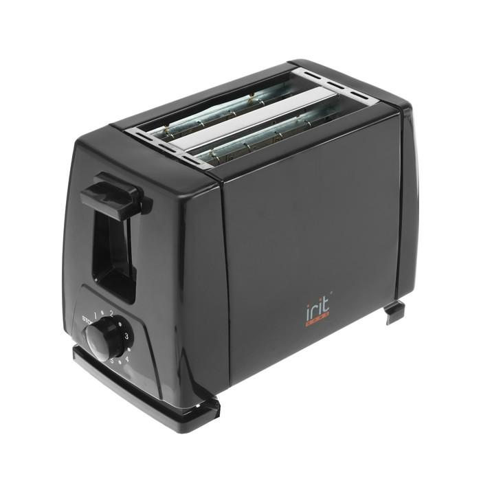 Тостер IRIT IR-5100, 650 Вт, 6 режимов, 2 тоста, черный