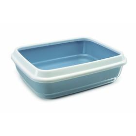 Туалет Imak Jerry для кошек, с бортом, 50 х 40 х 14,5 см, пепельно-синий