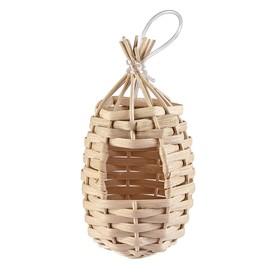 Гнездо Imak Nido Esotico для птиц, подвесное, плетеное, ф8,5 х 16 см