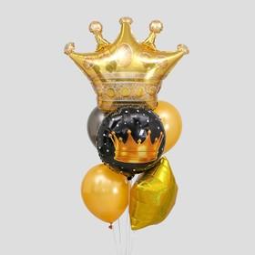 Букет из шаров «Король вечеринки», круг, звезда, фольга, латекс, набор 7 шт.