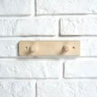 Вешалка деревянная, 2 крепления - фото 4641929