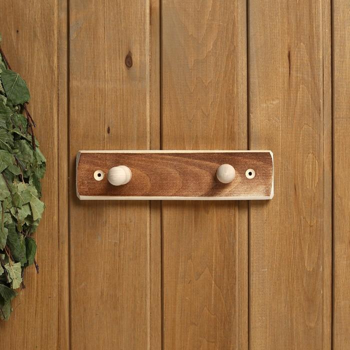 """Вешалка деревянная, 2 крепления """"Термо"""" - фото 4641924"""